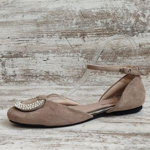 🔴Like New Ferretti Taupe Suede Mary Janes